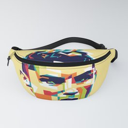 colorful illustration of ronaldo Fanny Pack