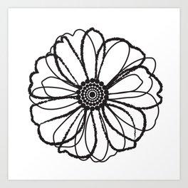 Anemone - Monotone Perennial Art Print