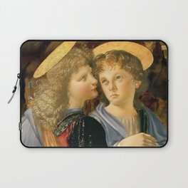 "Andrea del Verrocchio and Leonardo da Vinci ""Baptism of Christ"" - angels Laptop Sleeve"