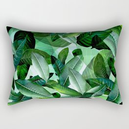 Banana palm leaf tropical jungle green Rectangular Pillow