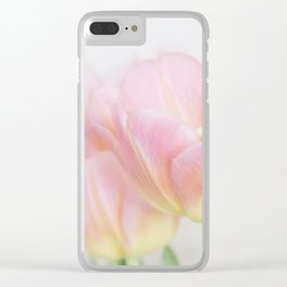 Pastel Tulips Clear iPhone Case
