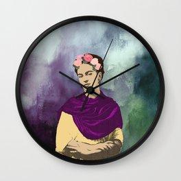 Frida Kahlo Abstract Wall Clock