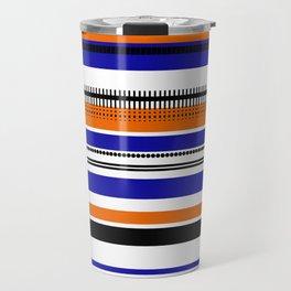 SSLICEE - Stripe, Lines, Orange, Fun, Summer, Clean Travel Mug