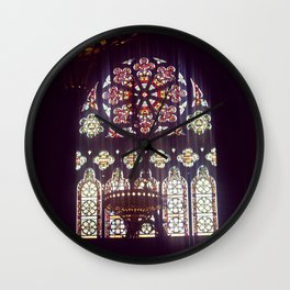 Stained Glass Church Wall Clock