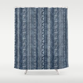 Mud Cloth Stripe Shower Curtain