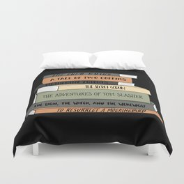 To Resurrect a Mockingbird (Black BG) Duvet Cover
