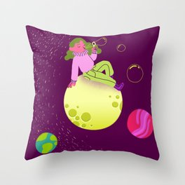 Bubbles in Space Throw Pillow