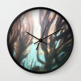 Deep Blue Reef Wall Clock
