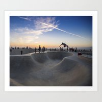 skateboard Art Prints featuring Skateboard by SEMphotography