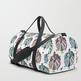 Fish geometric pattern Duffle Bag