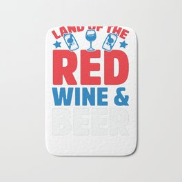 LAND OF THE RED WINE & BEER T-SHIRT Bath Mat
