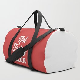 Not Today Satan Funny Quote Duffle Bag