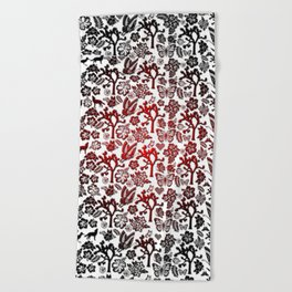 Joshua Tree Heart RED by CREYES Beach Towel