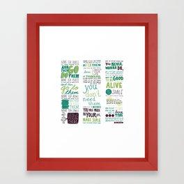 Ten Things - Paul Baribeau Framed Art Print