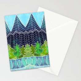 Magical Mountain Forest Stationery Cards