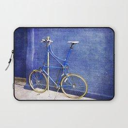 Blue Tall Bike Laptop Sleeve