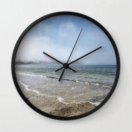 Fog rolling in on Niles Beach 5-9-18 Wall Clock