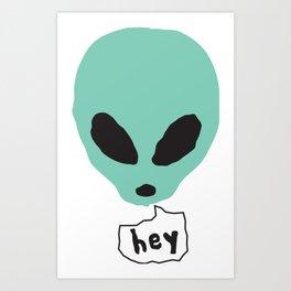 Alien Head Art Print