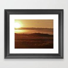 Golden Morning Framed Art Print