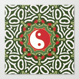 Holiday Festive Balance Yin Yang Canvas Print