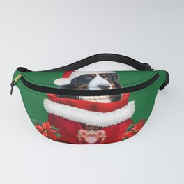 Bernese Mountain Dog Santa Claus Christmas Bag Fanny Pack