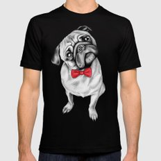 Percy Pug Mens Fitted Tee Black 2X-LARGE