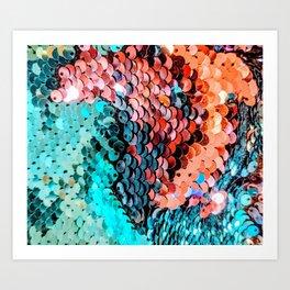 Sequin Art Print