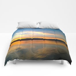 Hudson River Sunset II Comforters