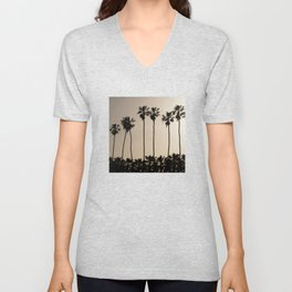 Tropical Palm Trees Unisex V-Neck