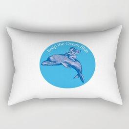 Keep the Ocean Blue_Dolphin_B Rectangular Pillow