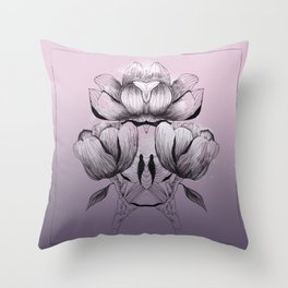Purple bloom of Magnolia Throw Pillow