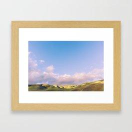 Where Clouds Play Framed Art Print