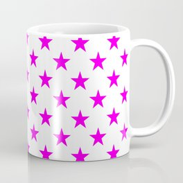 Stars (Magenta & White Pattern) Coffee Mug