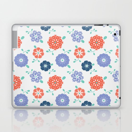 Block Print Flowers Laptop & iPad Skin