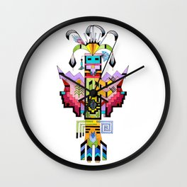 Kachina Butterfly 6 Wall Clock