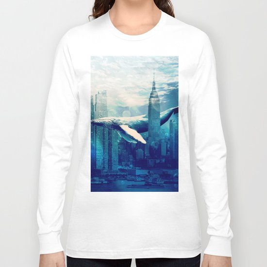 Blue Whale in NYC Long Sleeve T-shirt