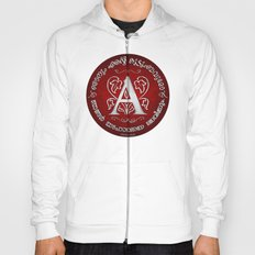 Joshua 24:15 - (Silver on Red) Monogram A Hoody