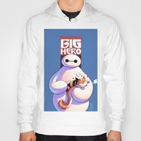 big hero 6 Hoodies featuring Baymax - Big Hero 6 by J Skipper