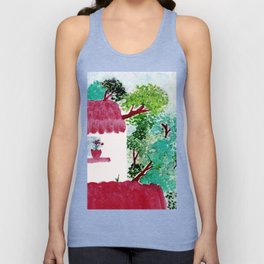 House in the woods Unisex Tank Top