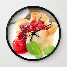 Cherry Tarts II Wall Clock