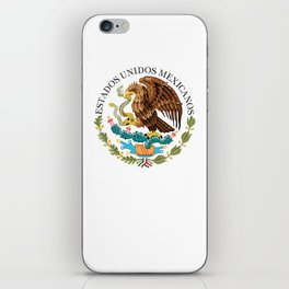 Coat of Arms & Seal of Mexico on white background iPhone Skin