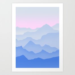 Between blue Art Print