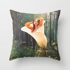 Girl of forest Throw Pillow