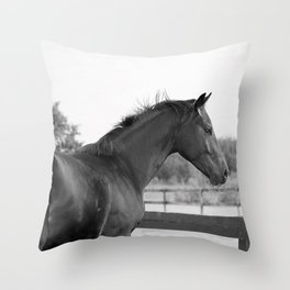 Bubba in Black and White Throw Pillow