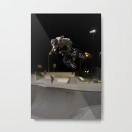 BMX skatepark night  Metal Print