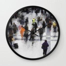 Commuter Art Wall Clock