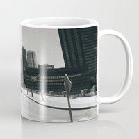 philadelphia Mugs featuring Philadelphia Street by Erica Torres