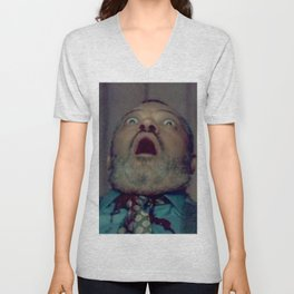Scared Face Laurence Fishburn Unisex V-Neck