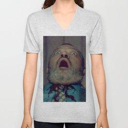 Scared Face Laurence Fishburn Unisex V-Neck