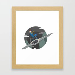 Nausicaa (of the valley of the wind) Framed Art Print